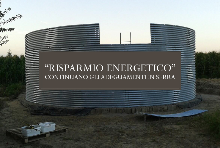 Risparmio energetico! continuano i nostri adeguamenti in azienda per limitare l'uso di risorse naturali